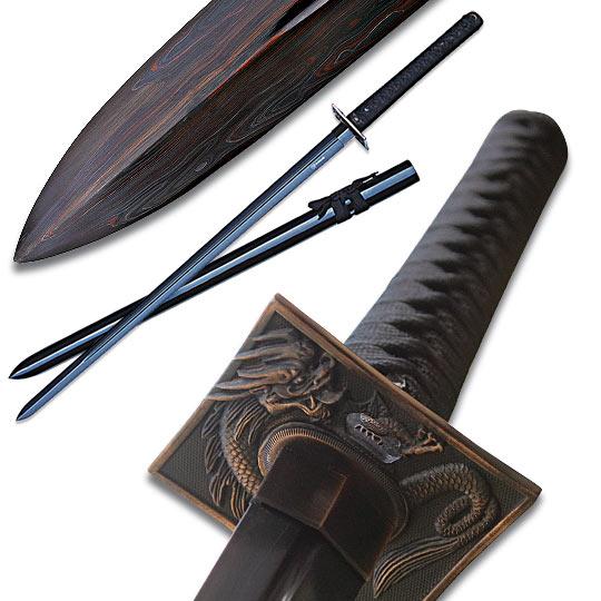 Shinwa Abyss Handmade Katana / Samurai Sword - Double ...