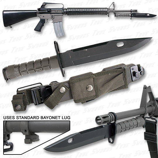 M9 Assault Rifle Bayonet - Use w/ M4 M16 AR-15 & More