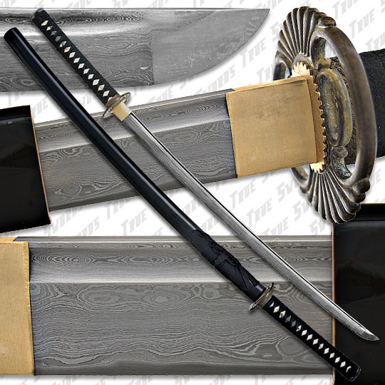 Musashi - Sharp Damascus Steel Katana Sword 4096 Layers