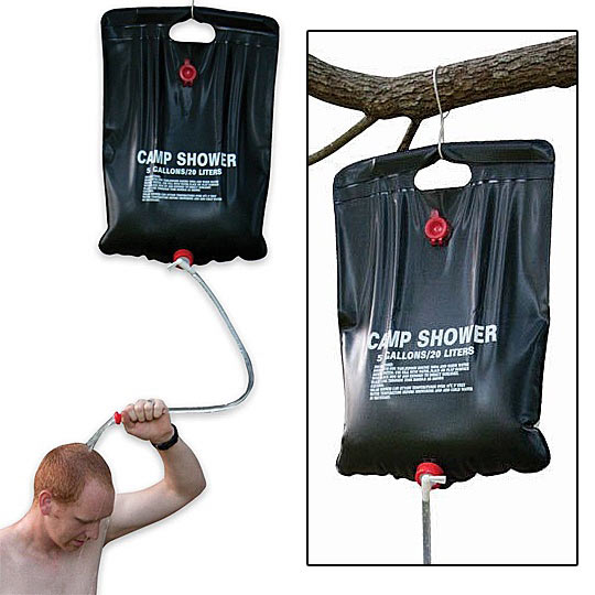 Portable water container solar camping shower 5 - Douche solaire portable ...