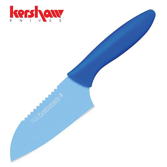 Blue Kitchen Knife: Kershaw - Pure Komachi 2 Small Blue Fish Kitchen Knife