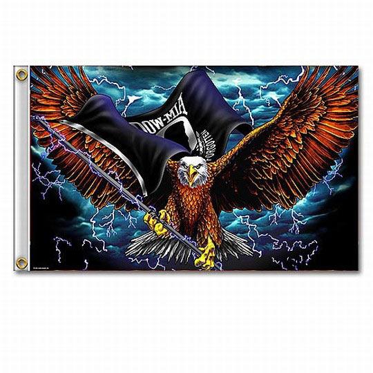 Flag P O W Eagle True Swords