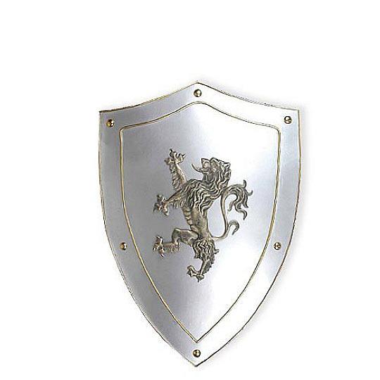 medieval shield w kings lion crest true swords